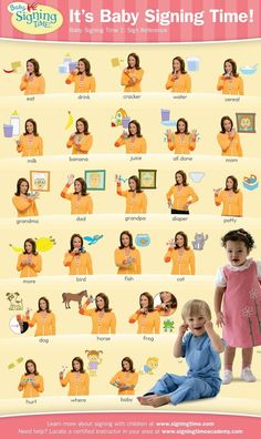 """baby sign language australia free printable chart. It was handy to have a single chart that I stuck on the fridge for fast reference. I had cards and books I never used. The chart was the best. This one is similar to the one I had. Mine also had """"gentle"""" """"cookie"""" and """"medicine"""" on it. But these ones here are all good basic signs. Some of the charts have signs you don't need."""