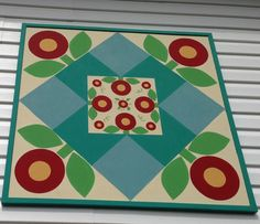 Chalk Paint® by Annie Sloan was used in this outdoor  barn quilt Painted By Paige Solomon  at Le Jardin in Edinboro Pa.   Classes available, custom design orders welcome!