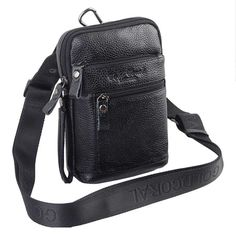 19.93$  Buy now - http://ali2uz.shopchina.info/1/go.php?t=32791510346 -  Men's Vintage Genuine Leather Cowhide Travel Cell Phone Messenger Shoulder Belt Pack Waist Hook Sling Chest Bag  #buyininternet