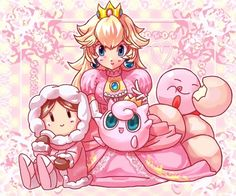 supersmashbrospics: ピンク色いろいろ by: SaNaMa So much pink!