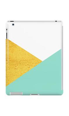 'Gold & mint geometry' Phone Case by artbyjwp by society6 #padcases #ipadcase #techaccessories #artprints #buyart #minimal #modern #abstract #geometric #goldandmint