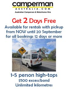 """""""Check out our August - September special! Motorhome Hire, Campervan, Range, Australia, Day, Cookers, Campervan Rental, Stove, Campervan Hire"""