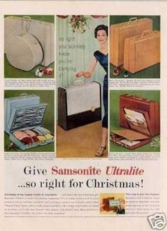Samsonite Ultalite Luggage (1957)