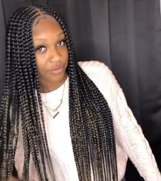 Box braids hairstyles are one of the most popular African American protective styling choices.Wherever you go, you will always see women rocking jumbo box braids,because of its versatility. Box Braids Hairstyles, My Hairstyle, African Hairstyles, Girl Hairstyles, School Hairstyles, Protective Hairstyles, Summer Hairstyles, Protective Styles, Ponytail Styles