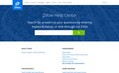 Featuring search front and center makes it easy to explore content on the @zillow Help Center