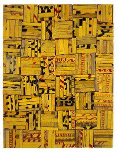Tesserae 3, 1989  sawn / split soft drink crates on plywood  46.5 × 36cm