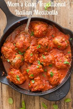 The best and most delicious authentic homemade Italian recipe. Meatballs in a tasty tomato sauce. Dinner is ready! #meatballs #Italian #sauce #pasta #baked