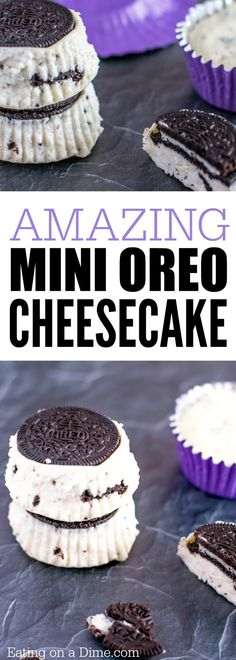 Need easy dessert recipes? Make this Mini Oreo Cheesecake Recipe. The entire family will love it. My kids love Oreo Cheesecake Cupcakes.