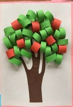 Art activity with ribbon papers Fall Crafts For Kids, Summer Crafts, Toddler Crafts, Projects For Kids, Diy For Kids, Kids Crafts, Easy Crafts, Diy And Crafts, Arts And Crafts