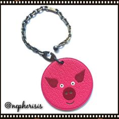 Hermes pig keychain or bag charm from animal series