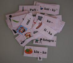 Školní hrátky: 3.ročník  Spodoba znělosti karty s obrázky Montessori