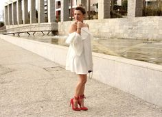 Coco and Jeans: Look : White ruffle dress