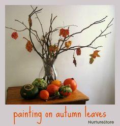 Painting on Autumn Leaves
