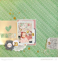 Winter by Maggie Holmes > Studio Calico December Kits by maggie holmes at @Studio_Calico #SCbluenote