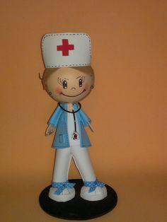 enfermera en goma eva