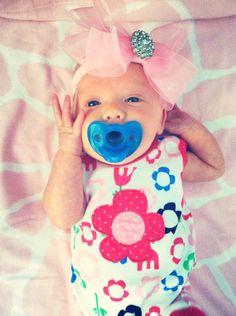 pink sheer baby bling bow headband