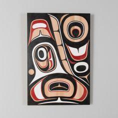 Red Cedar Killer Whale Panel by Haida artist Don Yeomans