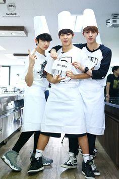 Jung Kook, Jimin & Jin, BTS' official facebook update