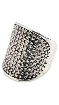 by Amrita Singh  Maxtla Ring, Antique Silver