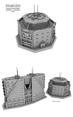 Ground Base - Stargate wip 5 by Mallacore on DeviantArt