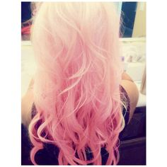 cotton candy pink ombre ❤ liked on Polyvore featuring hair, hairstyles, pink, cabelos, pink hair, backgrounds and filler