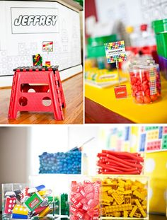 A Modern LEGO Inspired Birthday Party // Hostess with the Mostess®