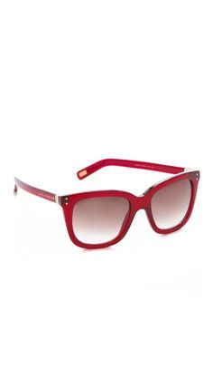 042508a035 Marc Jacobs Sunglasses Oversized Square Sunglasses. Red is one of this  season s colors