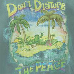 Peace Frogs Adult Don't Disturb The Peace Garment Dye Short Sleeve T-Shirt, Garment Dyed Short Sleeve T-Shirts: Peace Frogs Hippie Love, Hippie Art, Hippie Chick, Peace Love Happiness, Peace And Love, Woodstock Hippies, Peace Fingers, Dont Disturb, Hippie Trippy