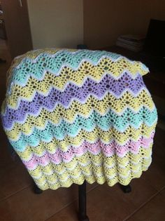 Ravelry: Project Gallery for Lilac & White Baby Blanket pattern by Loops & Threads™ Design Team