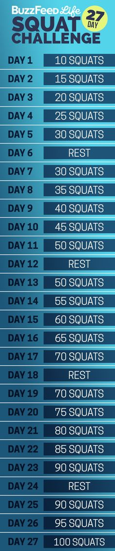 Here's your daily squat schedule