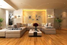 Sala con pisos de madera