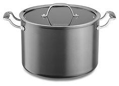 KitchenAid KCH180SCKD Hard Anodized Nonstick 8.0-Quart Stockpot with Lid Cookware - Black Diamond // http://cookersreview.us/product/kitchenaid-kch180sckd-hard-anodized-nonstick-8-0-quart-stockpot-with-lid-cookware-black-diamond/  #cooker #pressure #electric