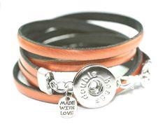Druckknopf Armband kupferfarben