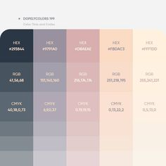 32 Beautiful Color Palettes With Their Corresponding Gradient Palettes Hex Color Palette, Pastel Colour Palette, Color Palate, Colour Schemes, Color Patterns, Pink Color, Pantone Colour Palettes, Pantone Color, Color Psychology