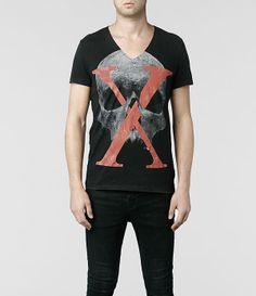 Mens Censor Scoop T-shirt (Vintage Black)   ALLSAINTS.com