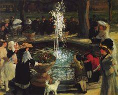 Ashcan School - John French Sloan ~ 'Throbbing Fountain in Madison Square', 1907
