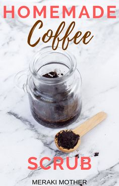 DIY Homemade exfoliating Coffee body scrub to help reduce cellulite, acne and stretch marks. Read here to find the homemade Coffee Scrub recipe and learn about the benefits of coffee for the skin. Sugar Scrub For Face, Diy Face Scrub, Hand Scrub, Diy Scrub, Feet Scrub, Sugar Scrubs, Coffee Body Scrub Diy, Homemade Coffee Scrub, Exfoliating Body Scrub Diy