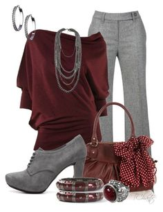 """Like a fine wine"" by tchantx ❤ liked on Polyvore featuring Gardeur, Max Studio, Oasis, Me Too and Blu Bijoux"