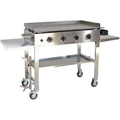 Blackstone 36 inch Stainless Steel Outdoor Cooking Gas Grill Griddle Station - Good value and works well.When you need new grills & outdoor cooking, you're natu Propane Gas Grill, Propane Tanks, Griddle Grill, Barbecue Smoker, Grill Table, Grill Area, Hammacher Schlemmer, Food Recipes, Meals