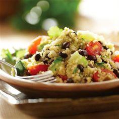 Quinoa Salad with Black Beans and Avocado.