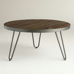 Wood Hairpin Coffee Table World Market
