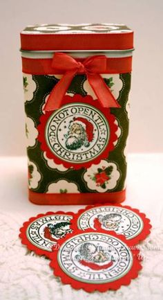 Christmas Gift Tag Tin