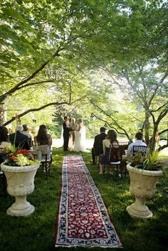 The Boho Dance: Beautifully Bohemian Wedding Decor: To keep things elegant, but have just a tiny touch of boho influence, this runner down the aisle brings a welcome pop to the ceremony. Kristen Gardner via Style Me Pretty
