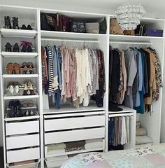 Lovely Make Dressing Room Design Ideas Wardrobe Room, Closet Bedroom, Home Bedroom, Bedroom Decor, Ikea Open Wardrobe, Ikea Fitted Wardrobes, Ikea Pax Closet, Master Closet, Bedroom Apartment