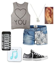 """""""I <3 You"""" by kierrak ❤ liked on Polyvore featuring Converse, ONLY, Forever 21, Berry and Happy Plugs"""