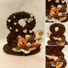 ТОПИАРИИ СВОИМИ РУКАМИ Coffee Crafts, Quilling Art, Topiary, Burlap Wreath, Diy And Crafts, Projects To Try, Creations, Sweet, Holiday
