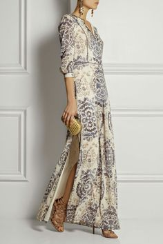 Printed maxy dress