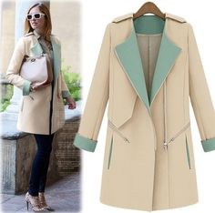 Cheap coat fashion, Buy Quality coat outerwear directly from China coat womens Suppliers: autumn -summer woman windbreaker brand Trench coat for women 2014 Fashion dress Coat Zip Closure military Trench SOB070U