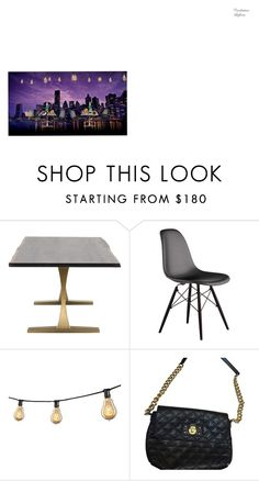 Manhattan Skyline by katiefeeback on Polyvore featuring interior, interiors, interior design, home, home decor, interior decorating, Dot & Bo and Marc Jacobs