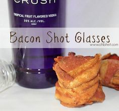 Here's How To Make Bacon Shot Glasses - http://www.77evenbusiness.com/heres-how-to-make-bacon-shot-glasses/
